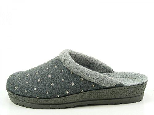 Rohde 2298-83 Neustadt-D Pantofole Donna Grau