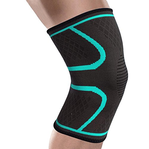 Preisvergleich Produktbild JAYLONG Sport Knie-Kompressions-Ärmel - Zum Laufen,  Radfahren,  Joggen,  Basketball,  Gewichtheben,  Gelenkschmerzen,  Arthritis und Wiederherstellung von Verletzungen,  B,  L