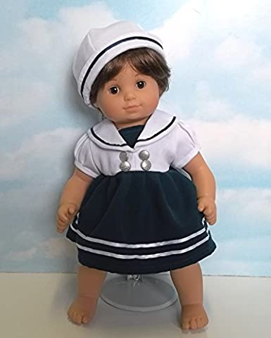 Sailor Dress and Hat. Fits 15 Dolls like Bitty Baby and Bitty Twin