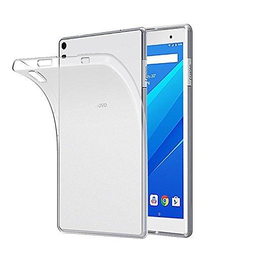 Gosento Hülle TPU Case für Lenovo Tab4 8 Plus, Soft Premium Flex Silikon Crystal Backcover Ultra Dünn Clear Schutzhülle Tablet Cover für Lenovo Tab 4 8 Plus (Matt weiß )EINWEG (Tab 4-tablet-cover)