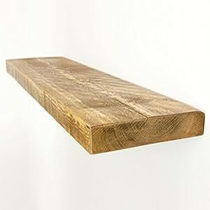 funky chunky furniture 22 5 x 5 cm rustikal holz wandregal teak 160 cm k che. Black Bedroom Furniture Sets. Home Design Ideas