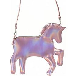 Pardao Bolsa de Mano de Unicornio – El Mejor Regalo para Niñas – Bolsa de Mano y Hombro Formal e Informal (Rosado)