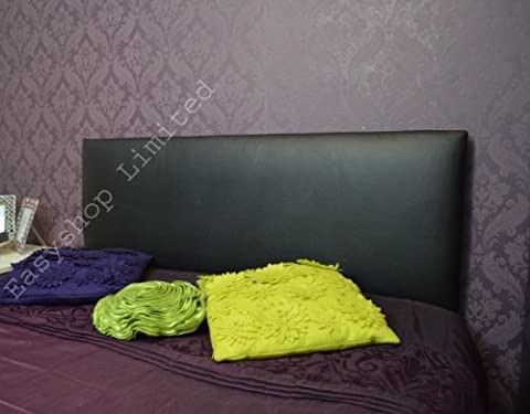 5Ft Kingsize Top Quality Headboards Faux Leather Bedding Headboard Plain Brand New (Black)