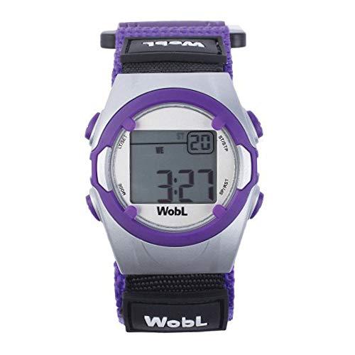 WobL lila - Erinnerung Armbanduhr 8 Alarm Vibration