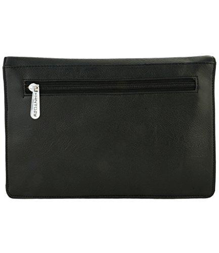 Fantosy Women Sling Bag (FNSB-057, Black and Brown)