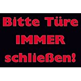 schild hinweisschild bitte t re schlie en 15 x 25cm pvc baumarkt. Black Bedroom Furniture Sets. Home Design Ideas