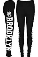 Womens Ladies Workout Like A Boss Cesten Vouge Love New York 78 Brooklyn 98 Print Full Ankle Length Stretchy Leggings