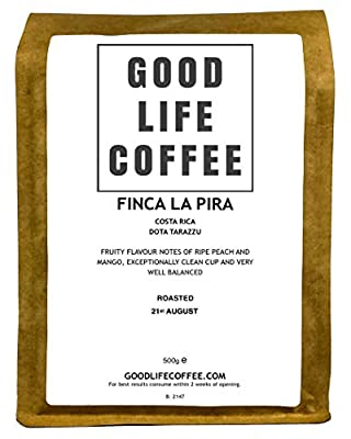 Good Life - Finca La Pira, Dota Tarazzu, Single Origin Specialty Arabica Coffee Beans from Costa Rica Fresh Full of Flavour Roasted to Order SCA:85Roasted to Order SCA:85 by Good Life Coffee