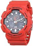 Casio G-SHOCK Orologio 20 BAR, Rosso, Analogico - Digitale, Uomo, GA-100B-4AER