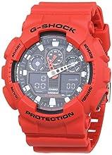 Casio G-SHOCK Homme Analogique-Digital Quartz Montre avec Bracelet en Plastique GA-100B-4AER