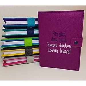 Kalenderhülle inklusive Kalender 2020 in A5 aus Filz individuell bestickt - personalisiert - Buchhülle - Notizbuch - Organizer