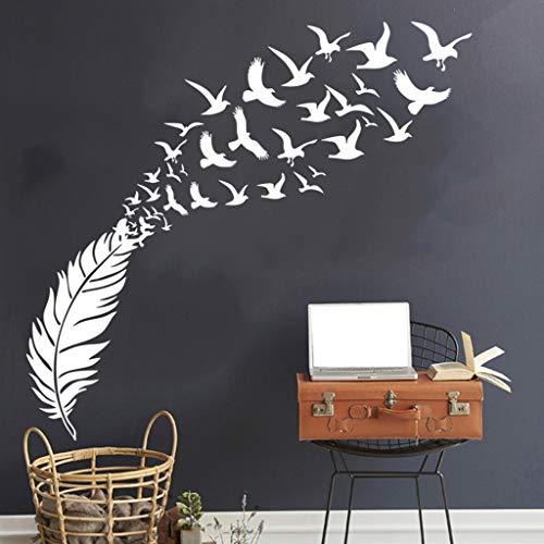 Zegeey DIY Haus abnehmbare Wandtattoo Familie Home Aufkleber Feder Fliegende Vogel Wand Kunst Home Decor