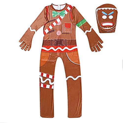 Face Ghost Kind Kostüm - Proumhang Kostüm Weihnachten Cosplay Ghost Face Kleidung Stil Party Weihnachten Kostüme Kinder-Braun, 140