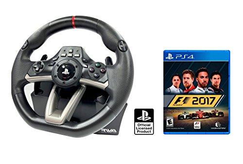 Volante e pedali PS4 originale con licenza Playstation 4 Rwa Apex + Formula 1 - F1 2017