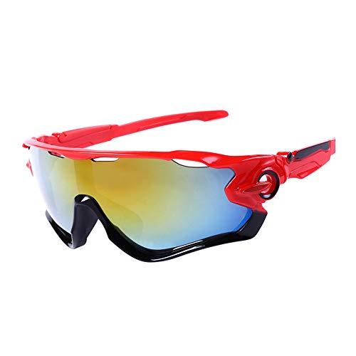 Tonpot Unisex Sonnenbrille Klassische Outdoor-Sportbrille Persönlichkeit polarisiert Stil Radfahren Sonnenbrille, Polykarbonat, Stil D, 14.5 * 5cm