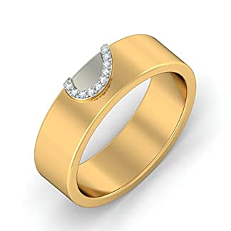 BlueStone 18k Yellow Gold and Diamond Profound Love Ring