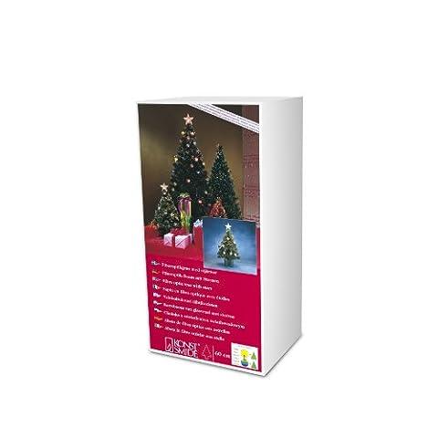 Konstsmide 3302-500 Arbre Fibre Optique 60 cm + Étoiles Blanc 12 V