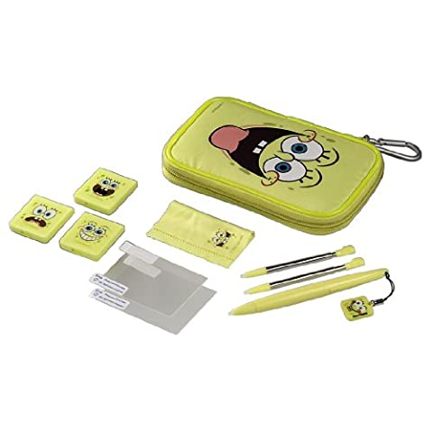 J-Straps SpongeBob Starter Set für Nintendo 3DS, Nintendo DSi mit viel Zubehör