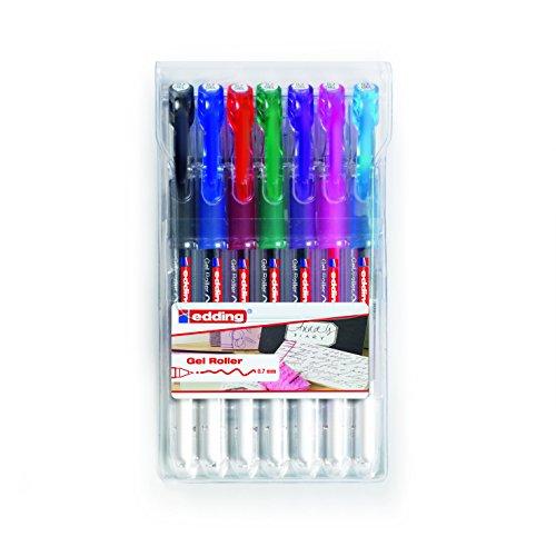 edding 2185 Gel-Roller (Standardfarben), 7-Stück, 0,7mm