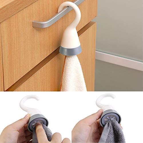 Geschirrtuchhalter Handtuchhalter mit Aufhängehaken für Badezimmer Küche-Bad Ohne Bohren 2 Pack/4 Pack