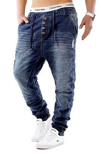 Herren Jeans JoggJeans Backyard Freestar ID1242 Slim Fit (Gerades Bein) Schwarz