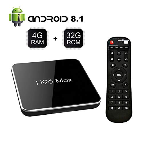Android 8.1 TV Box S905 X2 Quad-Core with 4GB RAM 32GB ROM Support 2.4G/5G WiFi/H.265 Decoding/4K Full HD Output/ HDMI3.0/ 100M Ethernet/ Bluetooth 4.1 Smart TV Box