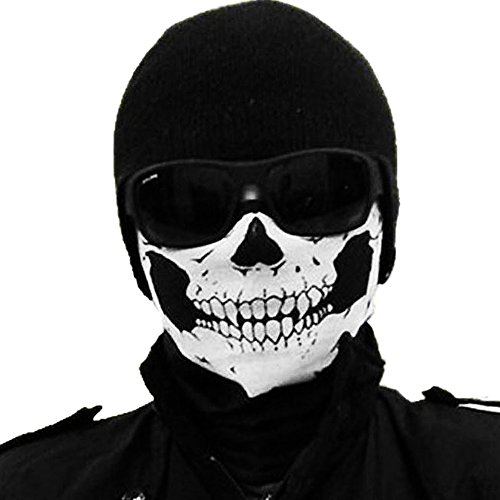 Jonty Skull Face Mask (Black, Large)