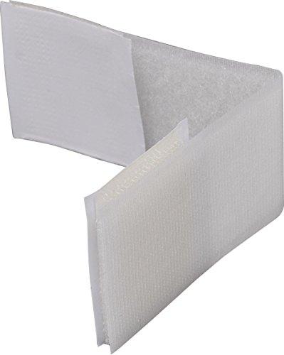 ABUS Verschluss-Streifen Mimi Sicherung für Türen, Schränke und Schubladen - Klettverschluss - Klebemontage - 2 Stück - weiß - 74227