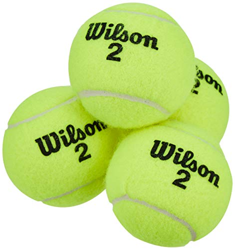 Wilson WRT110000 Palline da Tennis Champ Extra Duty, Tubo con 4 Palline, per Tutte le Superfici, Giallo
