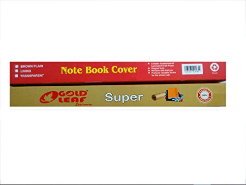 Gold leaf Note Book Cover Book Binding Synthetic White Roll (10meter) Set of 6 pcs