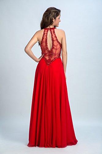 Bridal_Mall - Robe de mariage - Trapèze - Femme Rouge - Rouge