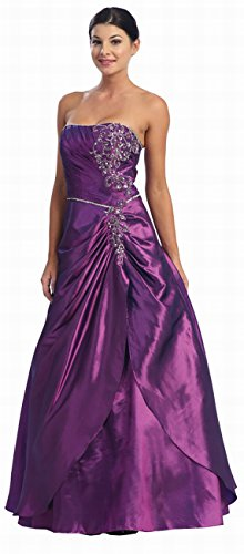 Ballkleid Lang Festkleid Corsagenkleid Abendkleid A-Linie XL Brautmutterkleider Hochzeitsgäste