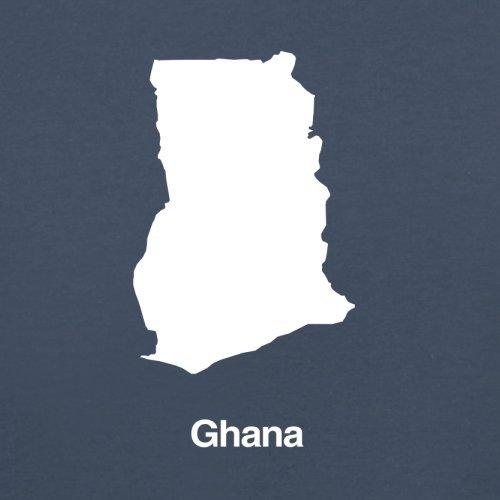 Ghana / Republik Ghana Silhouette - Herren T-Shirt - 13 Farben Navy