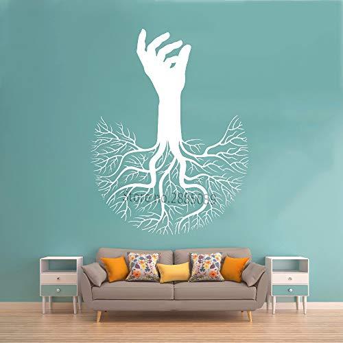 Ajcwhml Baum des Lebens Hand AST Wurzel Aufkleber Vinyl Wand Applique abstrakt großer Baum hauptdekoration wandbild kreative Schlafzimmer wanddekoration 80cm x 104cm -