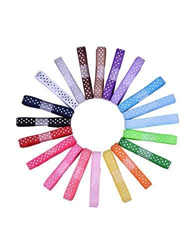 Ribest 3/20,3cm Polka Dot Ripsband Set für Geschenkverpackungen und Schleife Haar accessories-40Yards (2yards20Farben) -