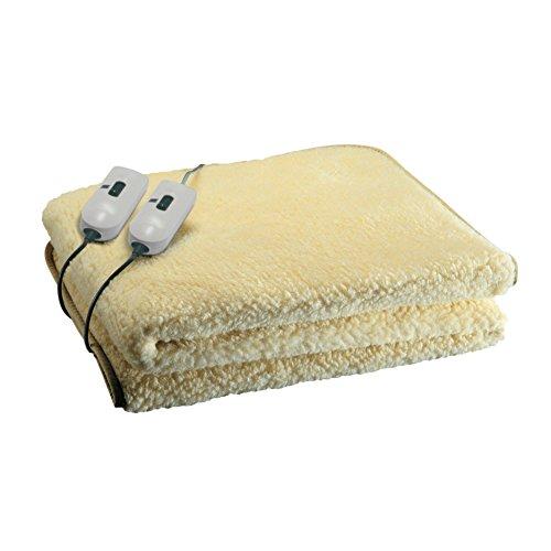 SGR Heizdecke, für Doppelbett, Plüsch 50% Wolle Doppel