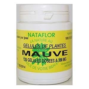 GELULES MAUVE sauvage feuille 120 gélules dosées à 250 mg.