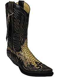 a517ab9e290c4d Sendra Boots Stiefel Cowboystiefel 3241 Antik Schlangenleder incl. Roy  Dunn´s Stiefelknecht