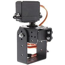 DZXGJ® 2 Dof Pan Tilt + MG995 Joint Steering Gear para Brazo Robot / 26cc ~ 50cc Gasolina Helicóptero Ala fija