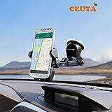 Ceuta, Car Mobile Holder - Premium Universal Car Mount | 360 Degree Rotation | with Anti-Vibration Pads | Anti Shake Fall Prevention [ Black Color ]