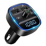 [2020 Version] LENCENT Transmetteur FM Bluetooth, Bluetooth Lecteur MP3 Adaptateur Radio sans Fil...