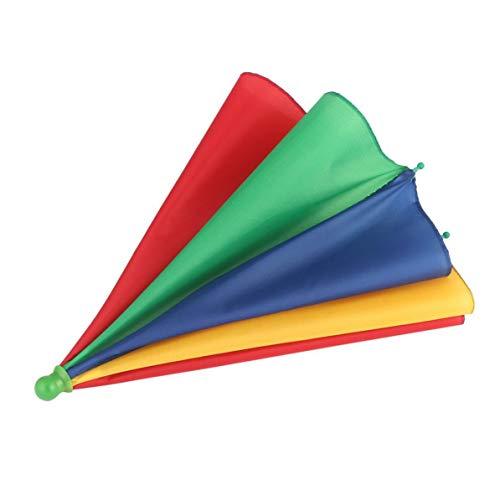 WEIWEITOE Tragbare Angeln Camping Sonnenschirm Hut Multicolor Kappe Sonne Regen Regenschirm Marke Neue Heiße Verkauf, multicolor,