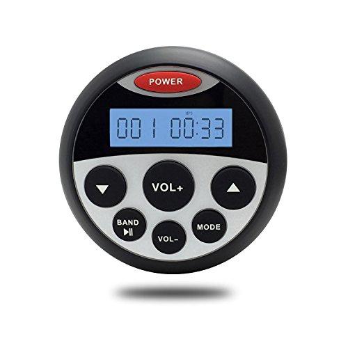 Bluetooth wasserdichte Marine Stereo Portable AM FM Radio Receiver Uhr Display 12V USB Mp3 Player Aux RCA Audio Sound System Leistung 4 * 40W mit Montagehalterung (Fm Und Mp3 Stereo-receiver)