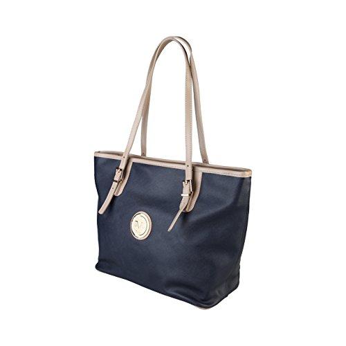 V 1969 - Sac porté épaule pour femme (5VXW84462-2_BLU) - Bleu Bleu