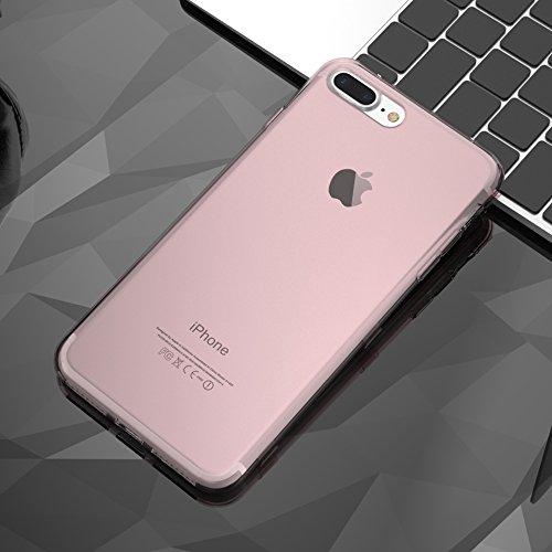 Coque iPhone 6 Plus/6s Plus, FLOVEME 360° Protection avec Rabat Tactile Housse Transparent en Silicone Souple Appel Sans Ouvrir le Clapet Anti-Rayures pour iPhone 6 Plus/6s Plus 5.5 Pouces Noir Pink