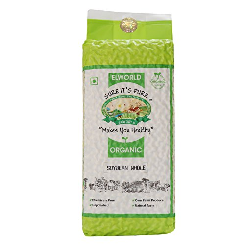 ELWORLD AGRO & ORGANIC FOOD PRODUCTS Organic Soyabean Whole, 1 Kg X 2 – Pack of 2