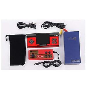 GAME Maple Quadratische Mini-Spielmaschine FC-Minispielkonsole, NES-Handspielkonsole PSP Classic Double TV Rot und Weiß,Red