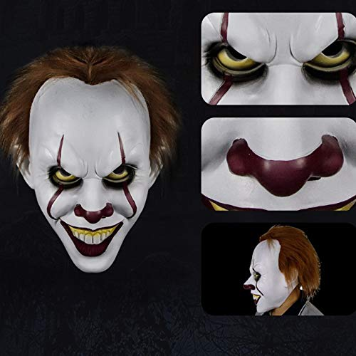 Komisch Männliche Kostüm - J-MASK Halloween Maske Filmfigur Zombie Adult Latex Terror Männliche Maske Tricky Scary Haunted House Terrorist Requisiten I