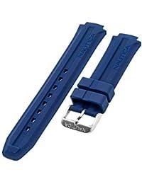 Nautica pour Homme N14676G | NST Bande de Montre Originale en Caoutchouc de Silicone Bleu | Sangle