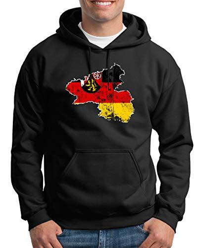 Touchlines Merchandise Rheinland Pfalz Bundesland Kapuzenpullover Herren XXXL Schwarz